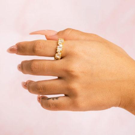 Baguette Gold Hand Model