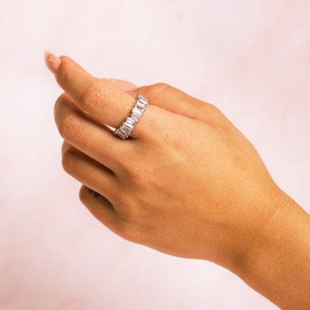 Baguette Silver Hand Model