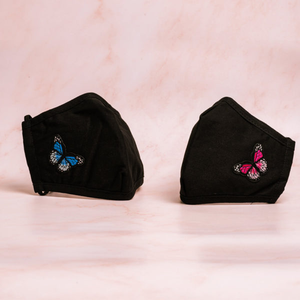 Butterfly Mask Blue Pink