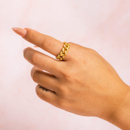 Cuban Gold Ring Hand Model