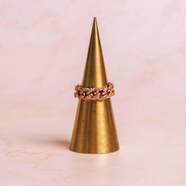 Cuban Rose Gold Ring