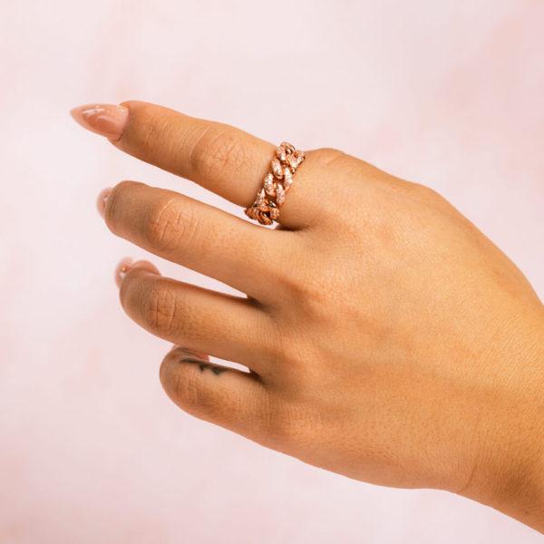 Cuban Rose Ring Hand Model