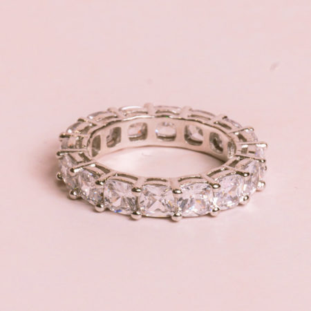 Cushion-Cut-Silver-Ring