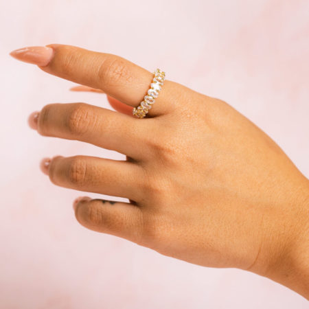Oval Gold Ring Hand Model