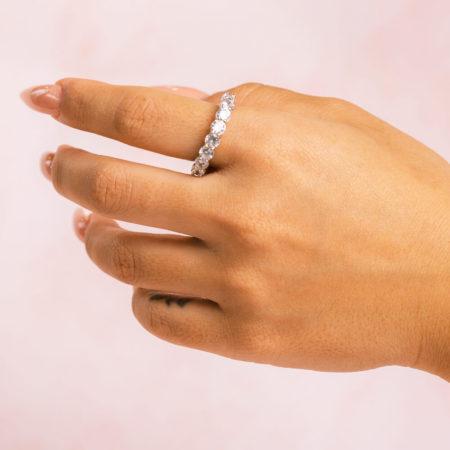 Round Silver Hand Model