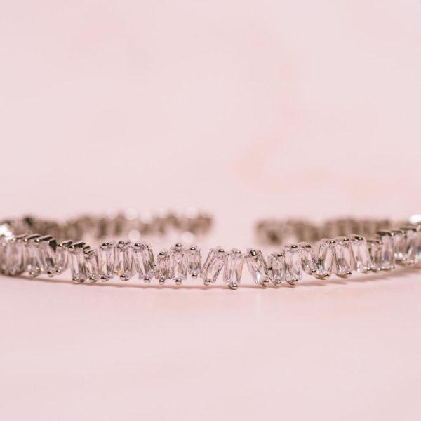 Baguette Silver Bracelet Hero