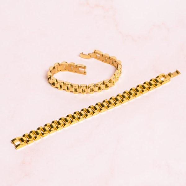 Jubilee Link Gold Bracelet Hero